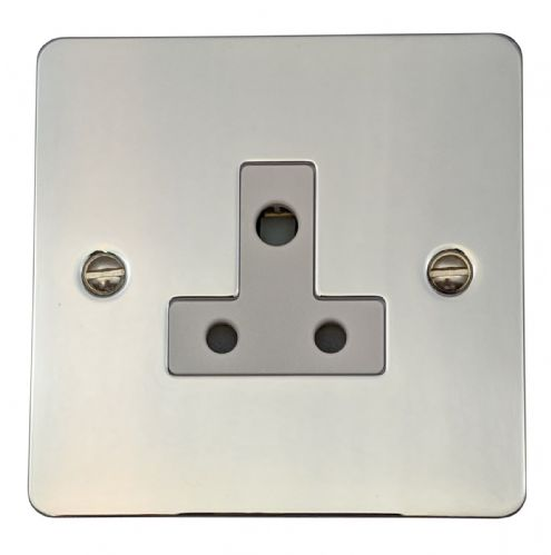 G&H FC59W Flat Plate Polished Chrome 1 Gang Single 5 Amp Plug Socket